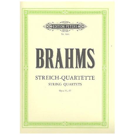 Brahms, J.: Sämtliche Streichquartette op. 51/1, op. 51/2, op. 67