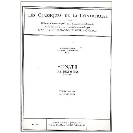 Birkenstock, J. A.: Kontrabasssonate g-Moll