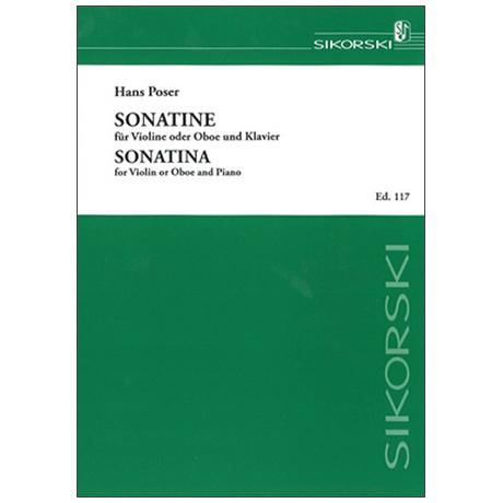 Poser, H.: Sonatine Op. 54/1 (1961)