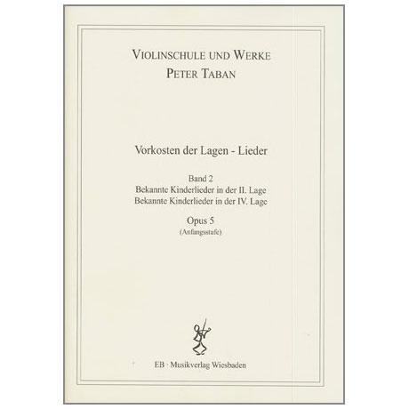 Taban, P.: Op. 5: Vorkosten der Lagen - Lieder Band 2