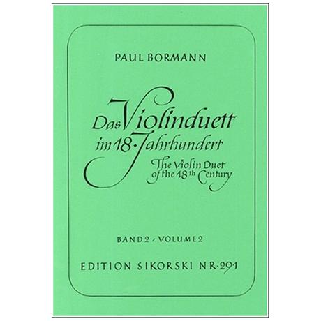 Bormann, P.: Das Violinduett im 18. Jahrhundert Band 2