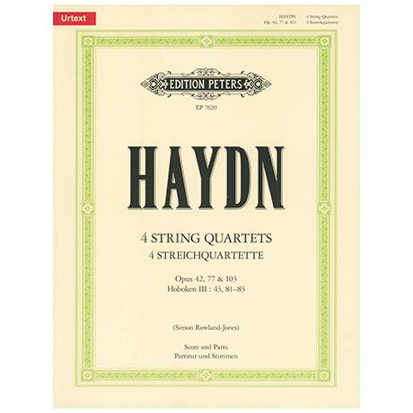 Haydn, J.:4  Streichquartette Op.42,77 und 103