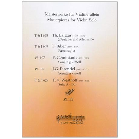 Pisendel, J.G.: Sonata a-moll