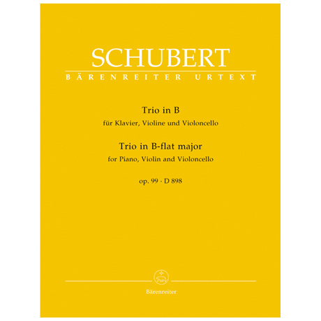 Schubert, F.: Klaviertrio D 898 Op. 99 B-Dur