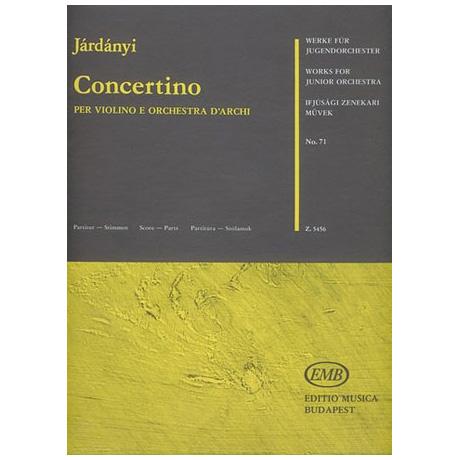 Werke für Jugendorchester - Járdányi: Concertino