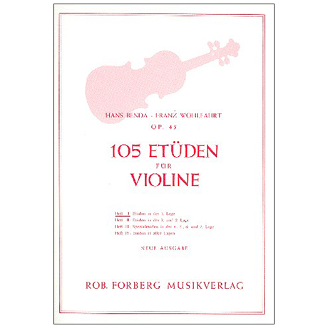 Benda, H./Wohlfahrt F.: 105 Etüden Op. 45 Band 1