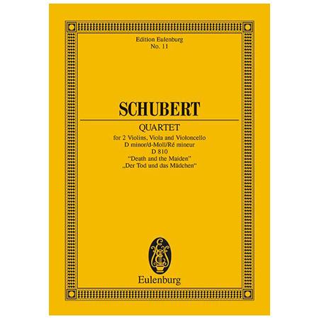 Schubert, F.: Streichquartett Op. posth. D 810 d-Moll