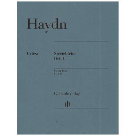Haydn, J.: Streichtrios Heft 2: Divertimenti Hob. V: 15-21 Urtext