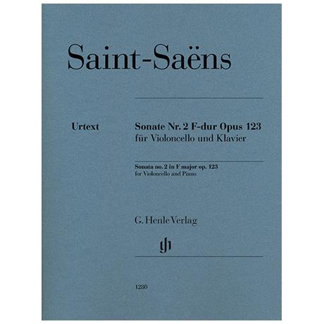 Saint-Saëns, C.: Sonate Op. 123/2 F-Dur