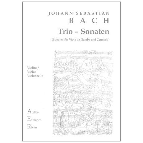 Bach, J.S.: Streichtrio: Sonaten Nr. I und III für Viola da Gamba und Cembalo