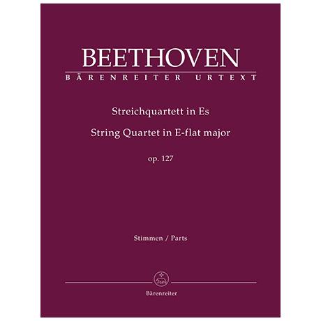 Beethoven, L. v.: Streichquartett Op. 127 Es-Dur – Stimmen