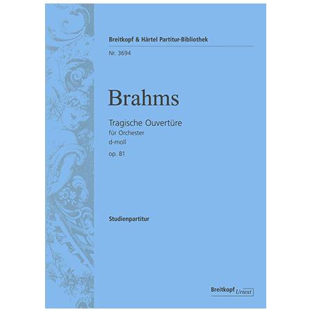 Brahms, J.: Tragische Ouvertüre d-Moll Op. 81