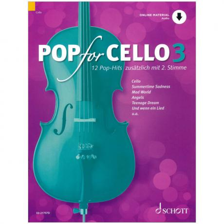 Pop for Cello 3 – 12 Pop-Hits (+Online Audio)