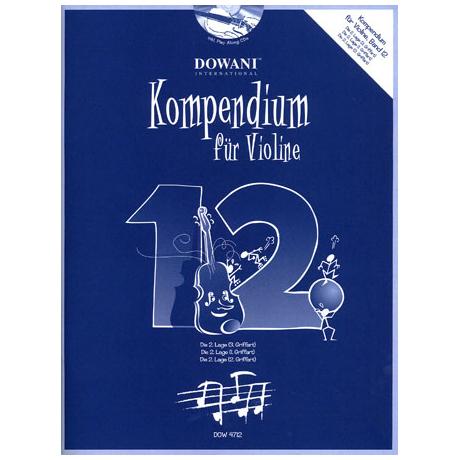 Kompendium für Violine - Band 12 (+ 2 CD's)