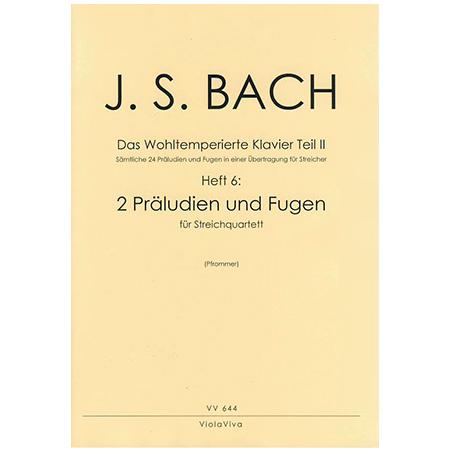 Bach, J. S.: 2 vierstimmige Präludien und Fugen aus dem Wohltemperierten Klavier Teil II
