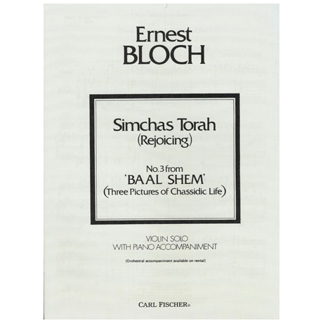Bloch, E.: Simchas Torah