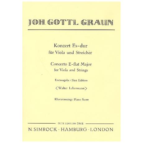 Graun, J.G.: Konzert Es-Dur