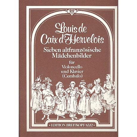 Caix d'Hervelois, L.d.: 7 altfranzösische Mädchenbilder