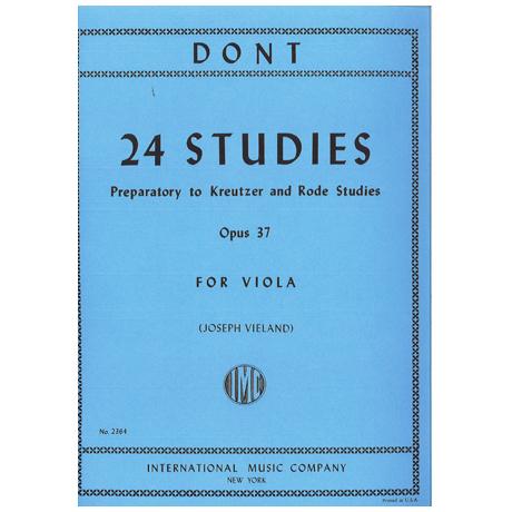 Dont, J.: 24 Etüden op. 37 (Vorbereitung zu den Etüden von Kreutzer und Rode)
