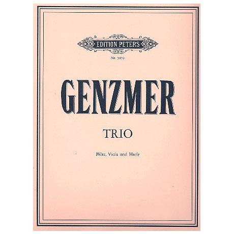 Genzmer, H.: Trio für Flöte, Viola und Harfe