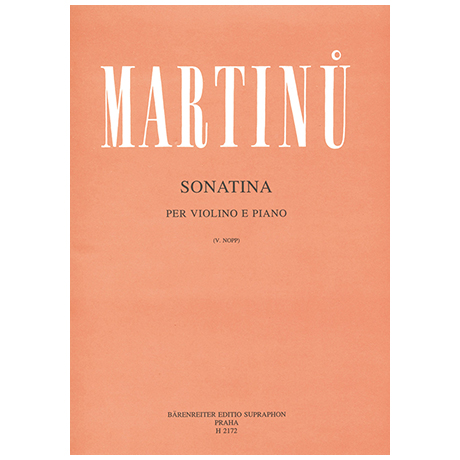 Martinu, B.: Sonatina