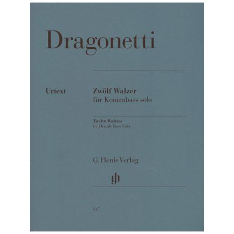 Dragonetti, D.: 12 Walzer für Kontrabaß solo