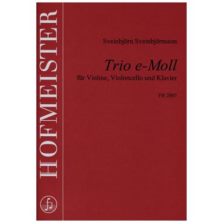 Sveinbjörnsson, S.: Trio e-Moll