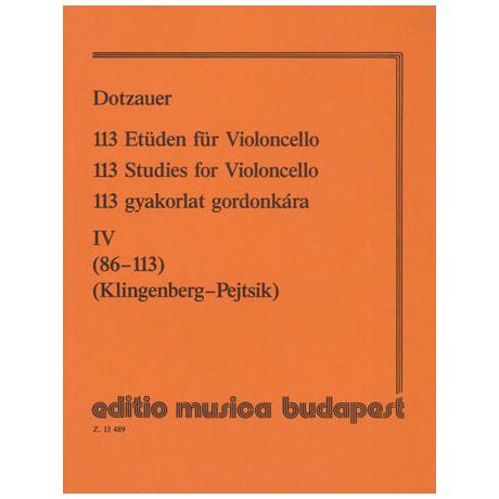 Dotzauer, J.J.F.: 113 Etüden Band 4