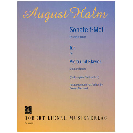 Halm, A.: Violasonate f-Moll