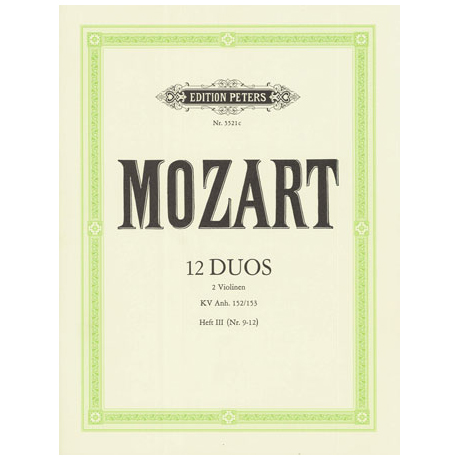 Mozart, W. A.: 12 Duos, Band 3 KV Anh. 152