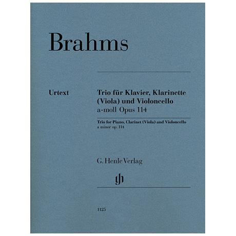 Brahms, J.: Trio a-Moll Op. 114 für Klavier, Klarinette (Viola) und Violoncello