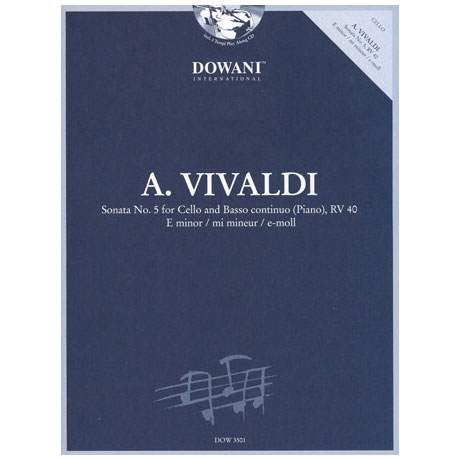Vivaldi, A.: Sonate Nr. 5 RV 40 in e-Moll (+CD)