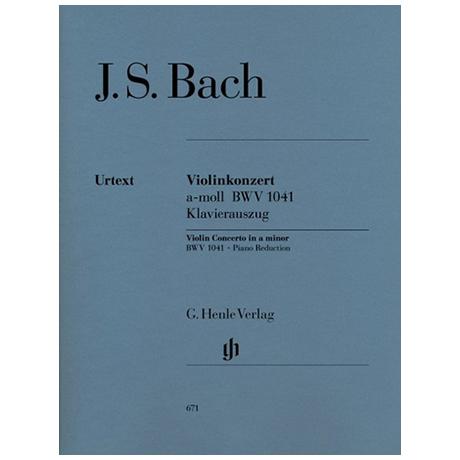 Bach, J. S.: Konzert BWV 1041 a-Moll
