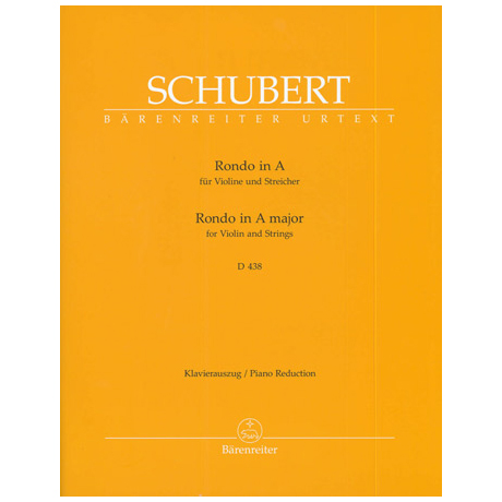 Schubert, F.: Rondo in A, D 438