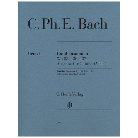 Bach, C. Ph. E.: Gambensonaten Wq 88, 136, 137