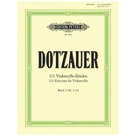 Dotzauer. J.J.F.: 113 Etüden Band 1
