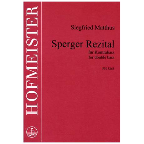 Matthus, S.: Sperger-Rezital