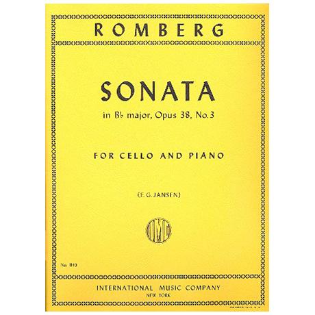 Romberg, B. H.: Sonate Op. 38/3 B-Dur