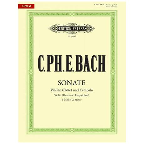 Bach, C. Ph. E.: Violinsonate Wq 77 g-Moll