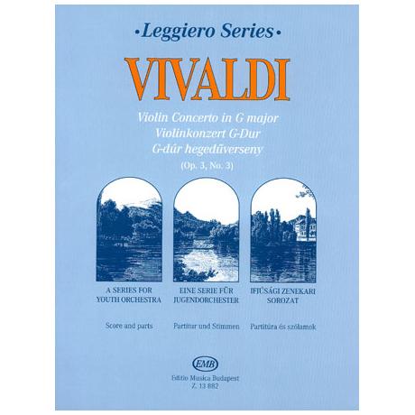 Leggiero - Vivaldi: Violinkonzert G-dur Op. 3, No. 3 RV 310