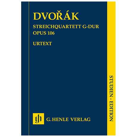 Dvořák, A.: Streichquartett Op. 106 G-Dur – Partitur