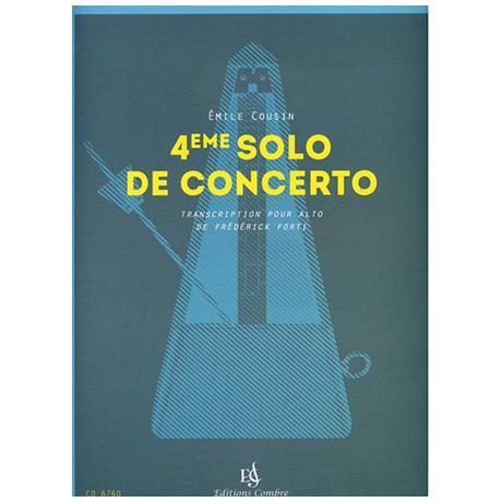 Cousin, É.: Solo de Concerto Nr. 4