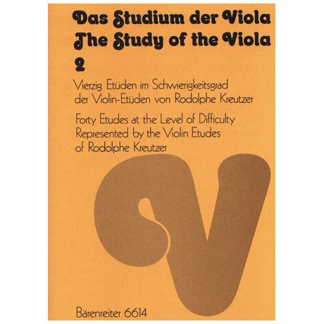 Das Studium der Viola - Band 2