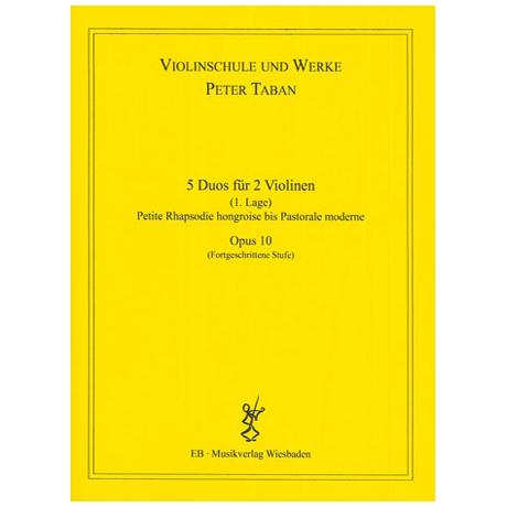 Taban, P.: Op. 10: 5 Duos für 2 Violinen Band 2