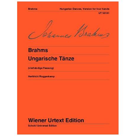 Brahms, J.: Ungarische Tänze für Klavier 4 ms