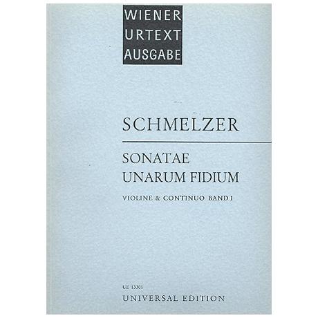 Schmelzer, J. H.: Sonatae unarum fidium Band 1