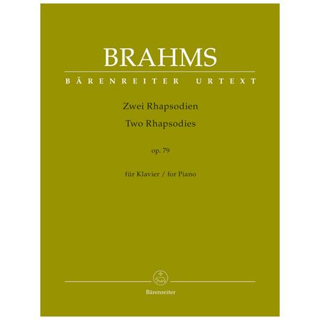 Brahms, J.: 2 Rhapsodien Op. 79