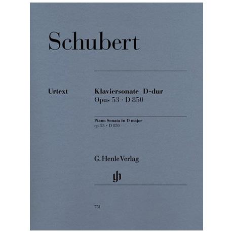 Schubert, F.: Klaviersonate D-Dur Op. 53 D 850