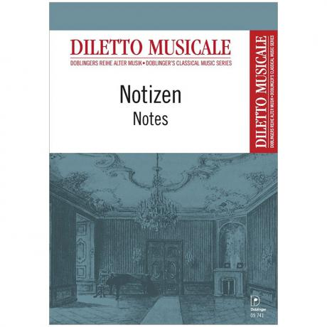 Notizheft »Diletto musicale« DIN A6