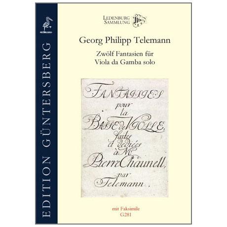 Telemann, G. Ph.: 12 Fantasien für Viola da Gamba solo